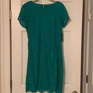 Laundry by Shelli Segal Teal Lace Dress